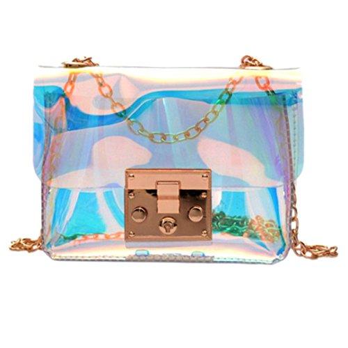 Meliya Women Transparent Shoulder Bags Mini PVC Holographic Evening Handbags Square Messenger Bag Crossbody Bags