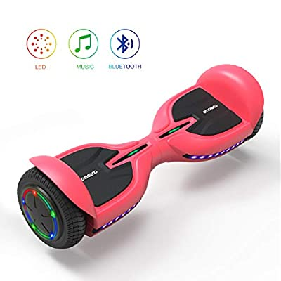 TOMOLOO Electric Self Balancing Scooter for Kids and Adults, 6.5 inch All Terrain Wheels Off-Road Smart Hoverboard with Bluetooth Speaker & LED Sidelights, Black, UL2272 Certified …
