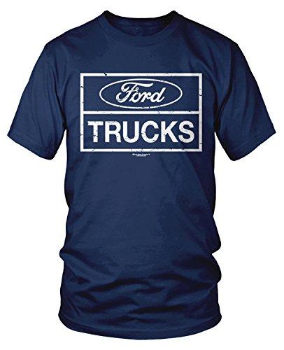 Amdesco Men's Ford Trucks, Officially Licensed Ford T-Shirt, Navy Blue 3XL