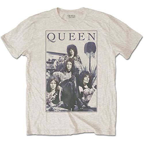 Queen 'Vintage Frame' (Sand) T-Shirt (Large)