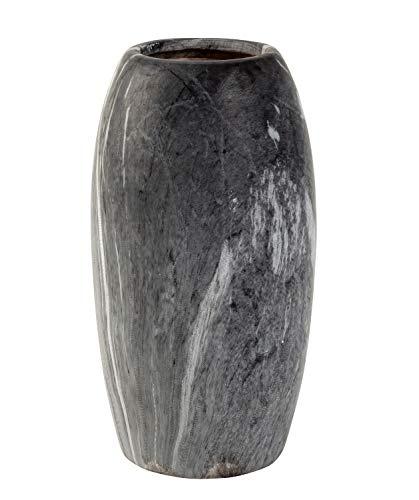 Lifestyle & More Moderne Dekovase Blumenvase Tischvase Vase aus Keramik marmoriert grau/weiß Höhe 21 cm