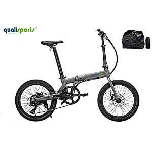 Qualisports Electric Ebike Volador 20″ Folding Bicycle Approved UL2849, 36V/7Ah Battery, 350W Hub Motor, 20MPH Max Speed, 25+Miles Range, 7 Speed Shifter Bike for Adults