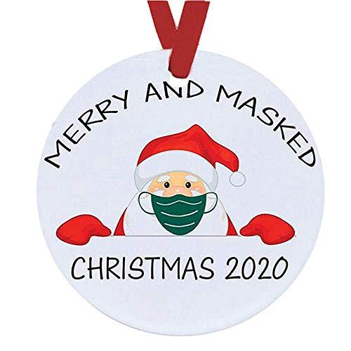 DIANAR Articulos De Navidad para Decorar 2020 Adornos Arbol Navidad Colgante Personalizadas Adornos De Navidad DIY Decoracion Navidad Hogar (C)
