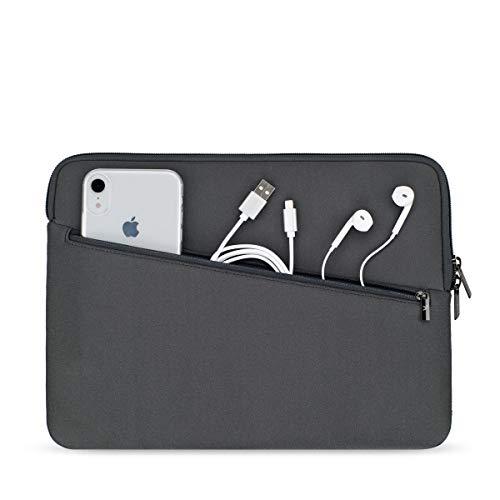 Artwizz Neoprene Sleeve PRO Tasche geeignet für [MacBook Air 13 (2020-2018), MB Pro 13 (2020-2016)] - Schutzhülle mit extra Zubehör-Fach - Titanium
