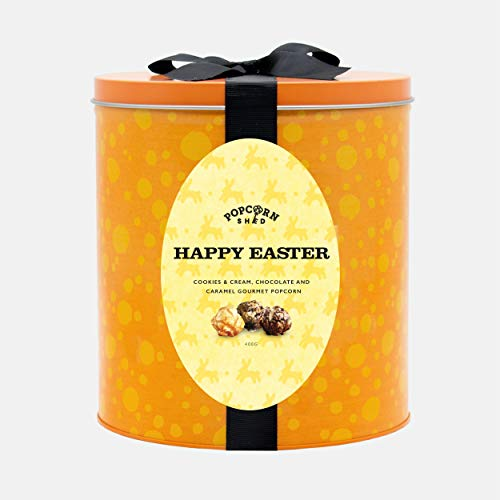 Happy Easter Gourmet Popcorn Gift Tin | Ultimate Foodie Gift | Perfect Easter Treats | Three Delicious Popcorn Flavours