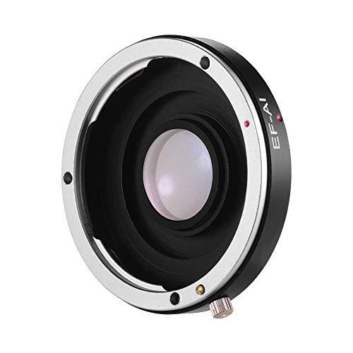 Docooler Anillo adaptador de objetivo de enfoque manual EF-AI para Canon EF EF-S de objetivo para Nikon AI F-Mount-Spiegelreflexkameras para Nikon D3500 D5600 D610 D7000