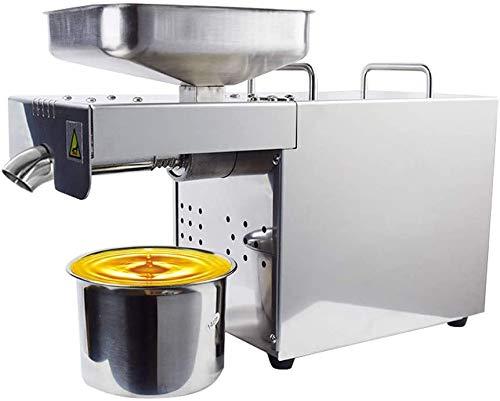 S SMAUTOP Ölpresse,500 W Kalt- / Heißautomatischer Ölextraktor Organischer Ölverteiler Gewerbliche/private Ölpresse aus rostfreiem Stahl für Avocado-Kokosnuss-Oliven-Flachs-Erdnuss-Rizinus-Hanfsamen