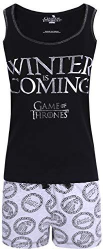 Pijama Gris y Negro para Mujer Juego de los Tronos XL