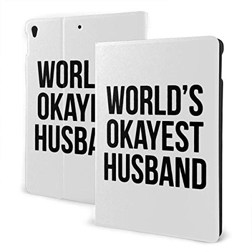 liukaidsfs World's Okayest Husband Slim Lightweight Smart Shell Stand Cover Case for iPad Air3 & pro (10.5-Inch,Auto Wake/Sleep)