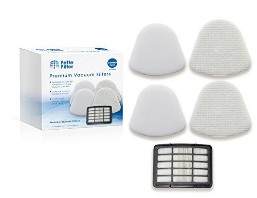 Fette Filter – Vacuum Filter Kit Compatible with Shark Navigator Lift-away Nv350 Nv351, Nv352, Nv355, Nv356, Nv357. Combo Pack. Compare to # XFF350 & XHF350