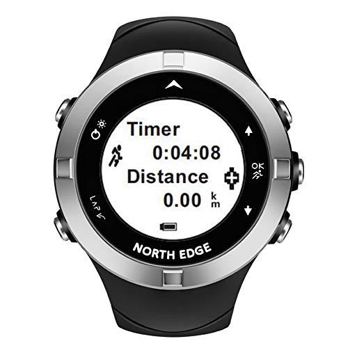 OOLIFENG Smart Watch ingebouwde GPS-eenheid, stappenteller kompas hartslagmeter 164 Ft waterdicht voor wandelen, zwemmen en fietsen training