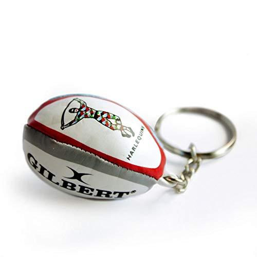 Gilbert Rugby-Ball Schlüsselanhänger 'Harlequins - Rugby Team' Offizielles English Premiership Produkt