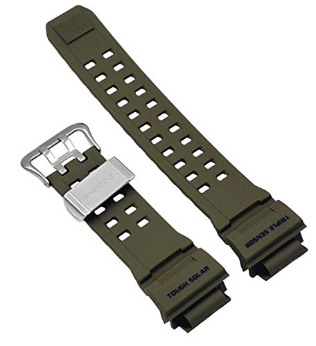 Casio 10455203 Genuine Factory Replacement Resin Watch Band fits GW-9400-3