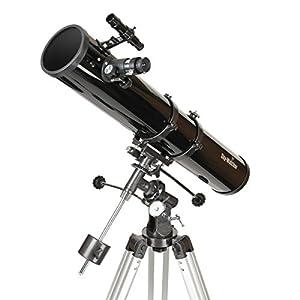 Sky-Watcher Newton Telescopio 114/900, Montatura Equatoriale Eq1, Nero
