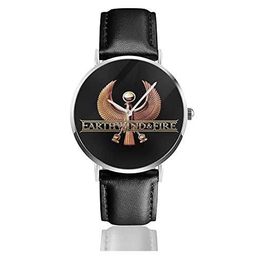 Earth Wind & Fire Armbanduhr Benutzerdefinierte personalisierte Bild Unisex Sport Lederarmband Uhr Quarzuhren Herren Damen Armbanduhr