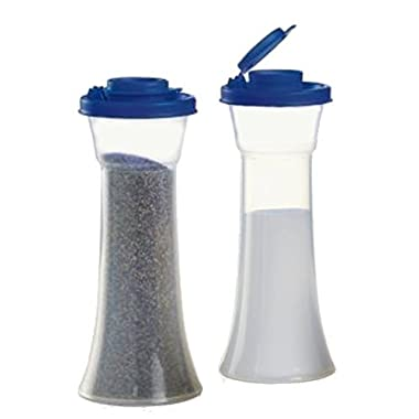Tupperware Large Hourglass Salt and Pepper Shakers, Tokyo Blue