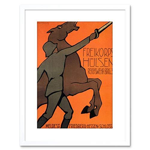 The Art Stop WAR Enlist HULSEN FREIKORPS Hessen Castle Germany Framed Print F97X7799