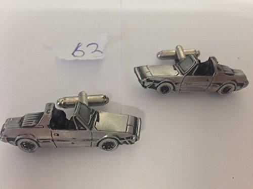 Fiat X19 1500 3D-Boutons de manchette Homme-Classique-Bouton de manchette en étain effet ref63