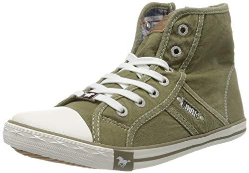 MUSTANG Damen 1099-502-777 Hohe Sneaker, Grün (Khaki 777), 40 EU