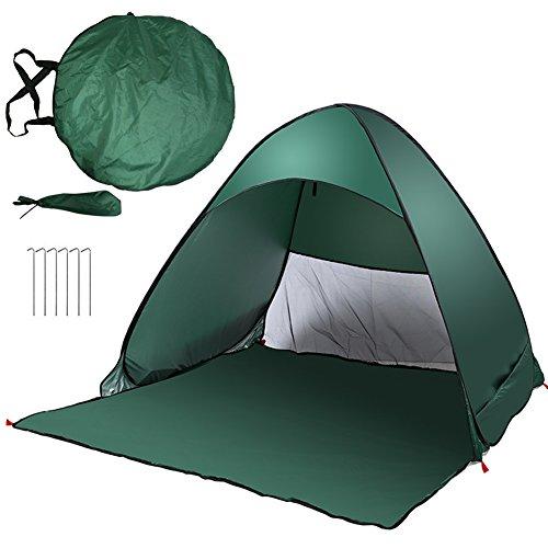 HTDirect Hochwertiges automatisch Schutzzelt Sonnenschirm klappbar Beach Zelt Schatten Outdoor Wandern Zelt, grün