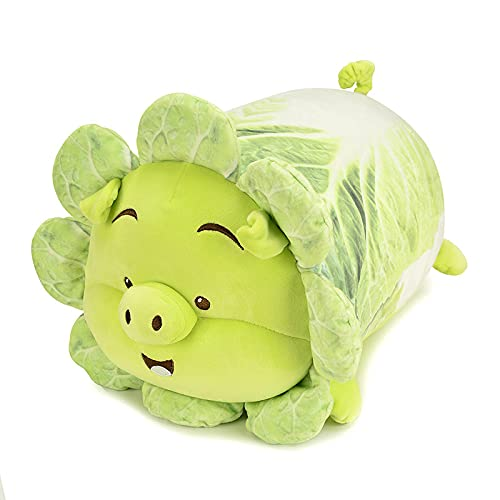 binghaishu Elfo Vegetal repollo repollo Cerdo Peludo bebé Feo Lindo repollo repollo Cerdo bebé Almohada Larga Regalo para la Chica Almohada Vegetal