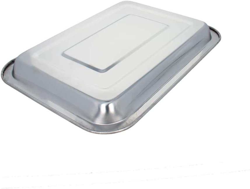 Utoolmart 270mmx200mm Grill Pan Stainless Steel Tray Hotel Tableware Rectangular Barbecue Grilling Plate 1 Pcs