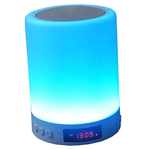 HYK - Altoparlante Bluetooth portatile, con display a LED colorato, con microfono integrato, 3 leve, 7 colori che cambiano per la famiglia