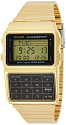 in budget affordable Casio # DBC611G-1D 25 Men's Watch with Gold Tone Memory Computer and Database