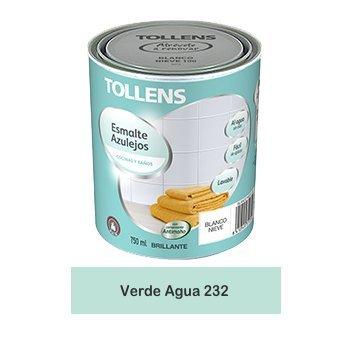 Tollens - Esmalte para azulejos al agua 750 ml (Verde Agua 232)