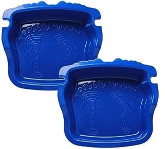 Poweka Limpiapies para Piscina de Baño de Pies Antideslizantes para Escalera de Piscina SPA Baño de Pies Texturizado Antideslizante (Paquete de 2,Azul )