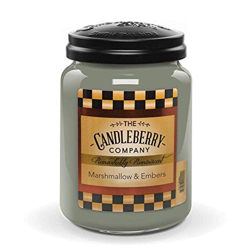Candleberry Candles | Marshmallow and Embers Candle | Best Candles on The Market | Hand Poured in The USA | Highly Scented & Long Lasting | Large Jar 26 oz