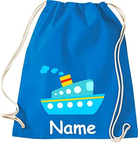 Shirtinstyle Gimnasio Saco Niños Bolso para Deporte Barco Bote con el Nombre Deseado - Sapphire, 46 cm x 36 cm