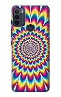 JP3162G50 カラフルなサイケデリック Colorful Psychedelic For Motorola Moto G50 用ケース