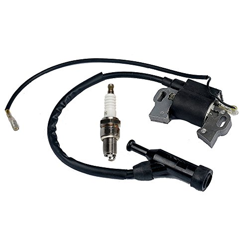 Panari Ignition Coil + Spark Plug for Generac GP5000 GP5500 GP6000E GP6500 GP6500E GP7500 GP7500E GP8000E XT8000E H5500 H6500 H7500 HW5500E HW6500 389cc 5KW 5.5KW 6KW 6.5KW Portable Generator