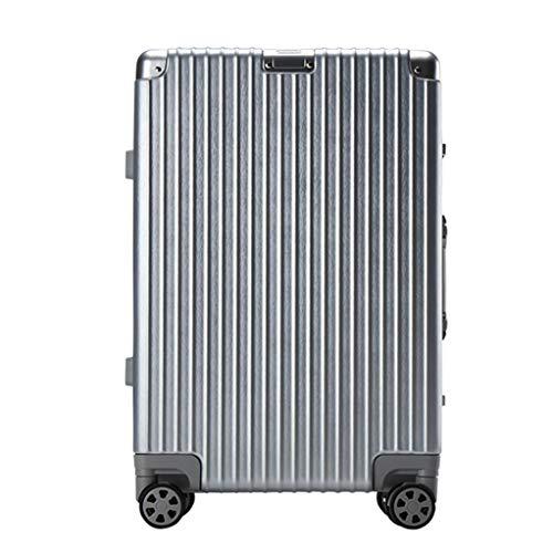 Laptop Case Trolley Bussiness Draagtas | Kleine koffer | 57 cm, 4 wielen, ABS lichtgewicht harde schelp met TSA slot, Reistas (zilver, rood, Zwart, wit)