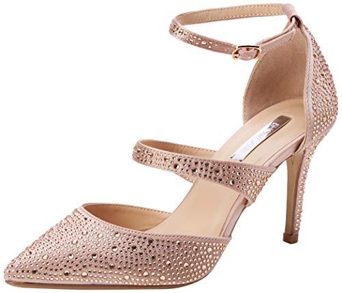 Dorothy Perkins Gingera Diamante Trim Court Shoes, Escarpins Bout fermé Femme, Rose Blush 155, 35.5 EU