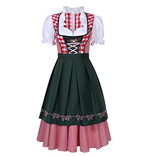 Guanan Disfraz de festival de cerveza alemn para mujer, vestido tradicional Oktoberfest, disfraz grande de sirvienta, perfecto para carnaval y Oktoberfest, 4 tamaos diferentes