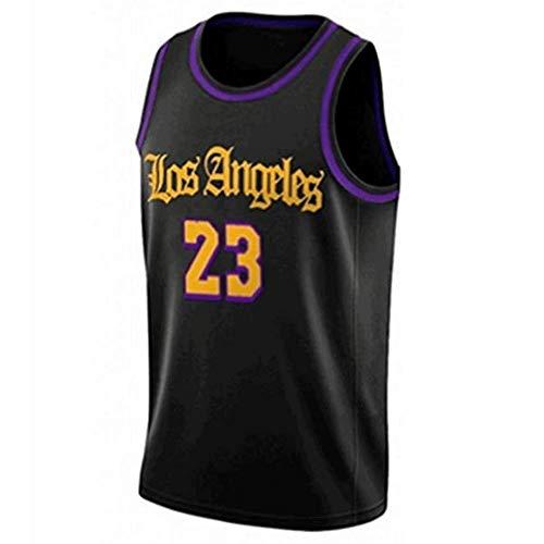 Foairs Basket Maglie Uniforme Lebron James#23 La Maglia da Basket Los Angeles Lakers Traspirante Casual Tessuto Ricamato per luso Quotidiano e per i Giochi di Basket