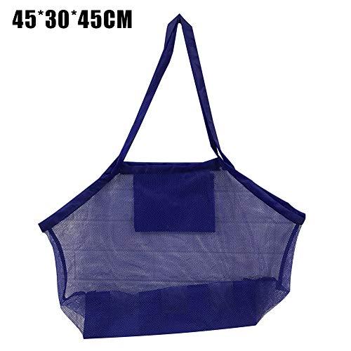 Vtops Strandtasche aus Netzstoff, große Kapazität, tragbare Strandtasche, leicht, Aufbewahrungstasche für Spielzeug, Markt, Picknick.