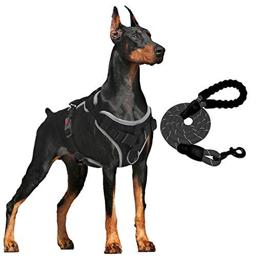 Hundegeschirr Anti Zug Gepolsterte Brustgeschirr mit Reflektorstreifen Weich Einstellbar Geschirr für Hunde Atmungsaktiv Dog Harness für Große Mittlere und Kleine Hunde (S für Mittlere Hunde