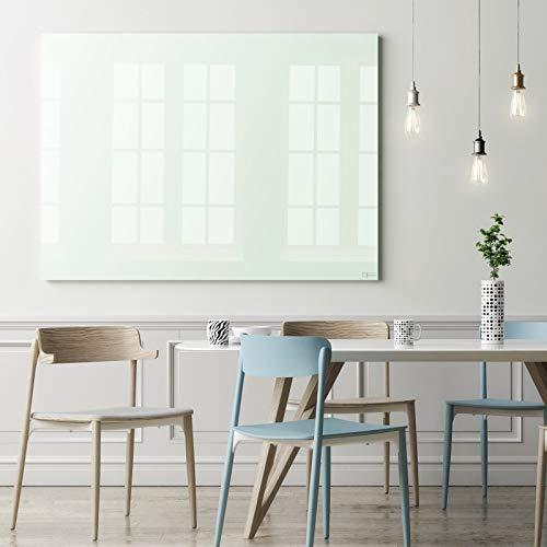 Premium Glas-Magnettafel beschreibbar | TÜV-geprüft | Whiteboard rahmenlos mit Schwebe-Effekt | Pinnwand magnetisch aus Sicherheitsglas | 7 Größen (120 x 150 cm)