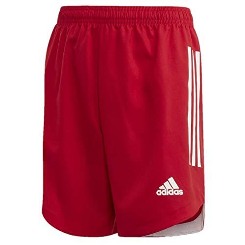 adidas Condivo 20 - Pantalones Cortos para niño, Niños, Pantalones Cortos, GLF02, Team Power Rojo/Blanco, L