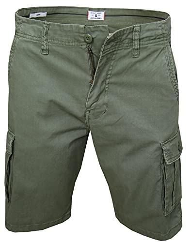 JACK & JONES Herren Zack Cargo Shorts, Dusty Olive, XL