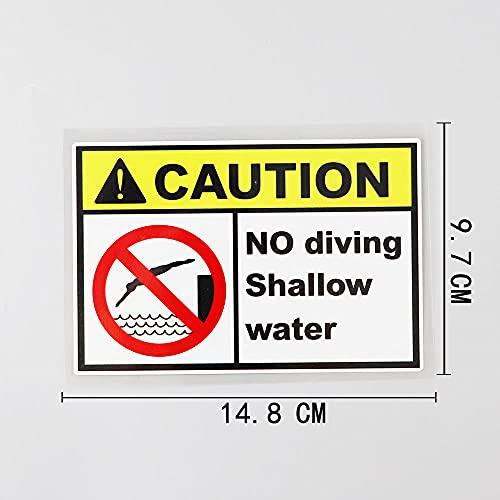 JKGHK No buceo azulejo de agua Nota etiqueta engomada del PVC para el coche 14. 8cm × 9 .7cm-como se muestra