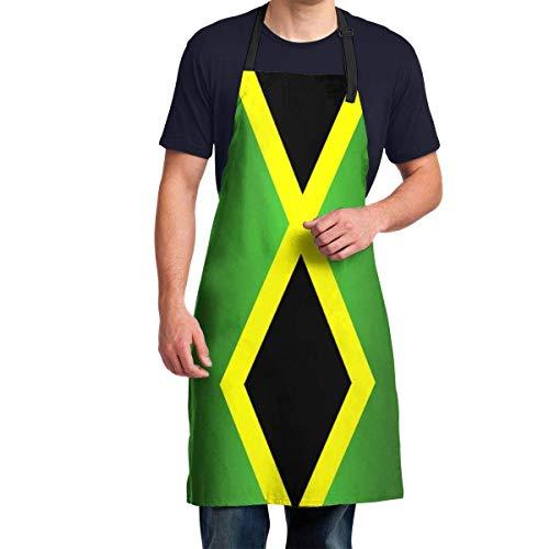 Grembiule da cucina con bandiera giamaicana regolabile, per barbecue, grembiule creativo, da picnic, resistente alle macchie, ideale per cucinare barbecue e grigliare a casa