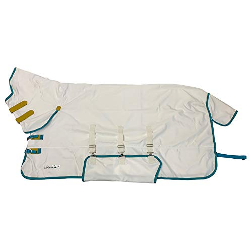 Shires Tempest Plus Sweet-Itch Combo Full Neck Fly Rug in White 5'3' / 63', White