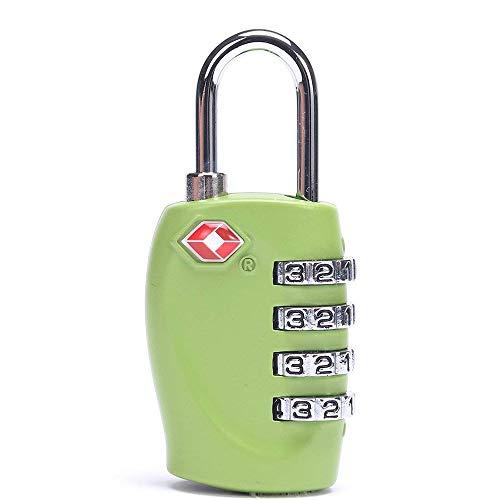 Ogquaton 1 x Tragbare und praktische 4 Digitale Schlösser TSA-Sicherheitskennwortsperre Geeignet für Gymnastik Turnsport Aktenschränke (Grün)