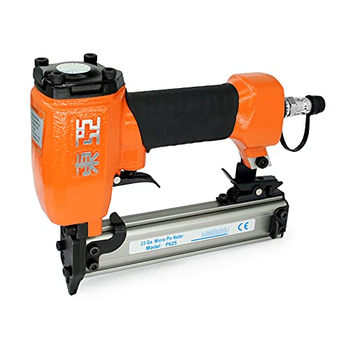 Dongya P625 23 Gauge Pneumatic Compact Pin Nailer - 3/8-inch to 1-inch (10-25mm) Pin Nails, Handy and Micro Headless Pinner, Finish Nailer Gun for Cabinet Making, Furniture Building and Wood Joining