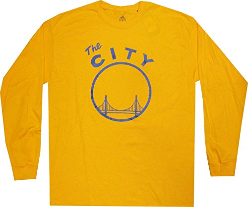 adidas Golden State Warriors Vintage The City Gold T Shirt Long Sleeve (XL)