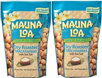 MAUNALOA(マウナロア) 塩味マカデミアナッツ (Lサイズ 283g【2袋】)